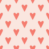 Sömlös hjärta klottrar bakgrund Fotografering för Bildbyråer