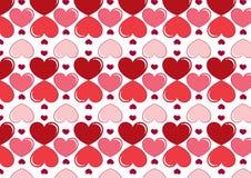 Sömlös hjärtabakgrund i rött Royaltyfri Fotografi
