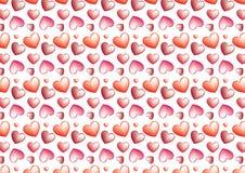 Sömlös hjärtabakgrund i rött Fotografering för Bildbyråer