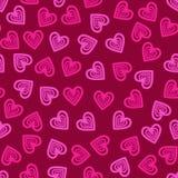 Sömlös hjärtamodell för valentin Royaltyfria Bilder