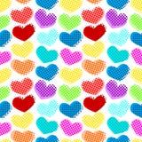 Sömlös hjärtaprickmodell vektor illustrationer