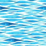 Sömlös horisontalhavsbakgrund Arkivfoton