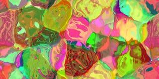 Sömlös horisontaltextur med abstrakt begrepp färgade målarfärg i stora färgrika slaglängder Arkivfoto