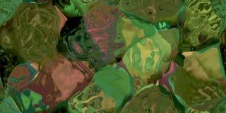 Sömlös horisontaltextur med abstrakt begrepp färgade målarfärg i stora färgrika slaglängder Arkivbilder