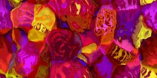 Sömlös horisontaltextur med abstrakt begrepp färgade målarfärg i stora färgrika slaglängder Royaltyfri Fotografi