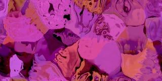 Sömlös horisontaltextur med abstrakt begrepp färgade målarfärg i stora färgrika slaglängder Royaltyfri Foto