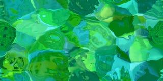Sömlös horisontaltextur med abstrakt begrepp färgade målarfärg i stora färgrika slaglängder Royaltyfri Bild