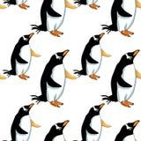Sömlös illustratio för vektor för papuan för modellSubantarctic pingvin Royaltyfria Bilder