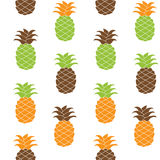 Sömlös illustration för ananasmodellvektor Arkivfoto