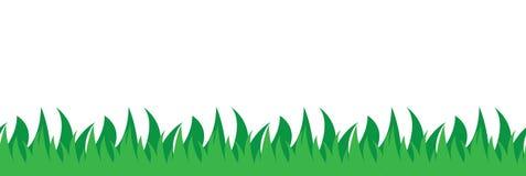 Sömlös illustration för gräsfält Royaltyfri Fotografi