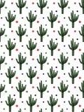 Sömlös illustration för kaktusmodelldesign arkivfoton