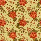 Sömlös illustration för vektor med blommor Arkivbilder