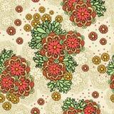 Sömlös illustration för vektor med blommor Royaltyfri Bild