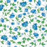 Sömlös illustration för vektor med blommor Arkivfoto