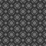 Sömlös illustration med blom- modeller, tappninggrå färgmodeller på mörk bakgrund Arkivfoto