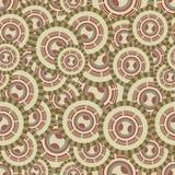 Sömlös illustration med cirklar Arkivbild