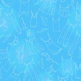 Sömlös illustration på temat av tvagningen och renlighet, olik kläder stock illustrationer
