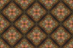 Sömlös indisk blom- paisley modell Etnisk mandalaprydnad Snör åt dekorativa runda beståndsdelar för tappning och ramen Hand som t Royaltyfri Fotografi
