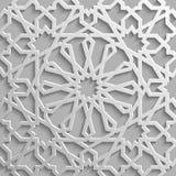 Sömlös islamisk modell 3d Traditionell arabisk designbeståndsdel royaltyfri illustrationer