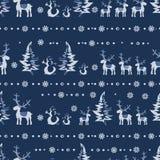 Sömlös jul 2 för vektor Royaltyfri Fotografi