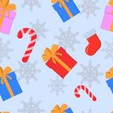 Sömlös jul och nytt år Stock Illustrationer