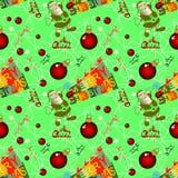 Sömlös julbakgrund med Santa Claus Royaltyfri Fotografi