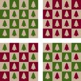 Sömlös jullegitimationshandlingar - uppsättning av 4 Arkivbilder