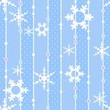 Sömlös julmodell med snöflingabakgrund Royaltyfri Fotografi