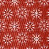 Sömlös julmodell med snöflingor och stjärnor Royaltyfria Foton