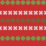 Sömlös julmodell med snöflingor traditionell tröjamodell royaltyfri illustrationer