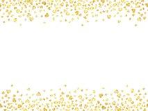 Sömlös konfettiguld Arkivbild