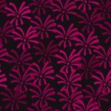 Sömlös konst för bakgrund för abstrakt begrepp för design för vektor för blommamodell som ser också som fyrverkerier i himmel Royaltyfria Bilder