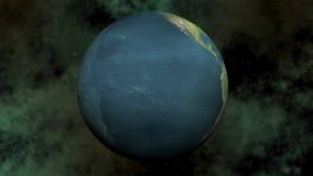 Sömlös kretsa jord - 3D framför arkivfilmer