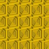 Sömlös labyrintmodell för kub 3d Royaltyfria Foton