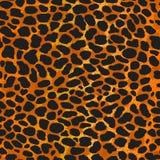 Sömlös leopard, ozelot eller löst tryck för kattpälsmodell royaltyfri illustrationer