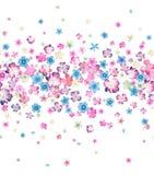 Sömlös liten blommavattenfärg Arkivfoton