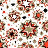 Sömlös ljus abstrakt stjärnabakgrund Royaltyfria Bilder