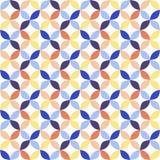 Sömlös ljus geometrisk cirkelmodell Arkivbild