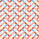 Sömlös ljus geometrisk cirkelmodell Arkivbilder