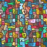 Sömlös ljus textur för färgrik stads- abstrakt modell Arkivbild
