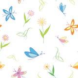 Sömlös ljus textur med flora Royaltyfria Bilder