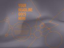 Sömlös mall för anslutningsnätverksdesign Fotografering för Bildbyråer