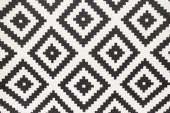Sömlös matta, svartvit grafisk modell fotografering för bildbyråer