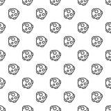 Sömlös meteoritmodell stock illustrationer