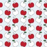 Sömlös modell av äpplebakgrund Arkivbilder