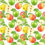 Sömlös modell av äpplen Arkivfoto