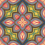 Sömlös modell av beståndsdelar i orientalisk stil Blom- motiv vektor illustrationer