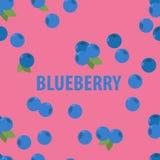 Sömlös modell av blåbäret Royaltyfria Bilder