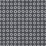 Sömlös modell av cirklar av ojämn form royaltyfri illustrationer