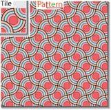 Sömlös modell av cirkulärcirklar eller skivor som överlappas stock illustrationer